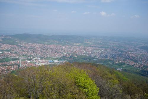 Pogled sa planine Bukulje na Arandelovac